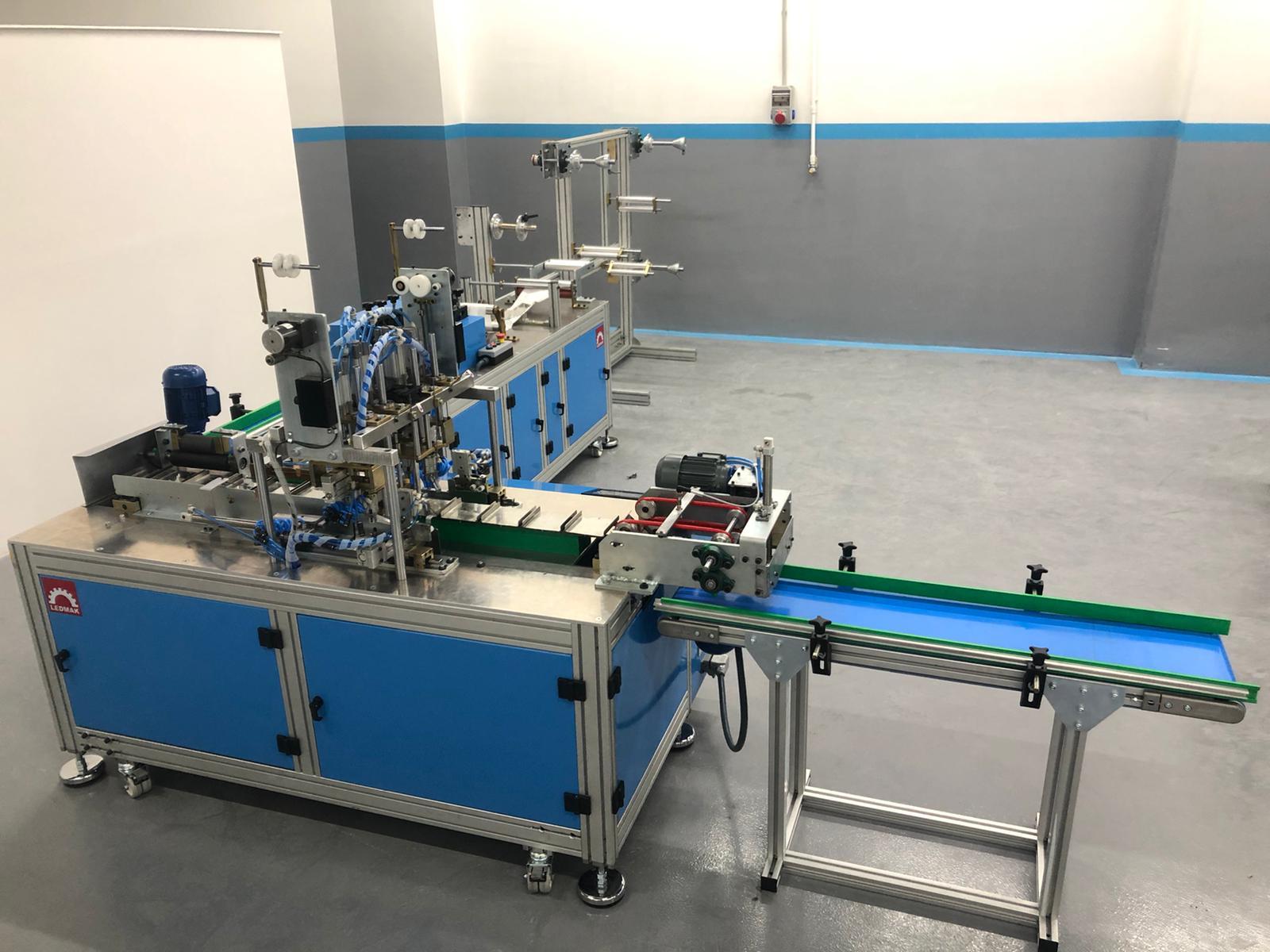 Full Otomatik Lastikli Ağız  Maskesi Üretim Makinası